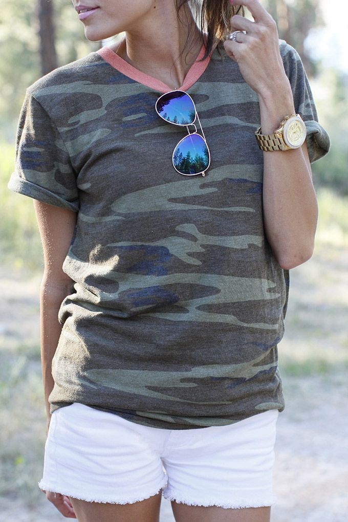 Weekend casual. A perfect example of what I would wear on the weekends. A simple tee and casual bottoms. Sandals/flip flops and a ponytail