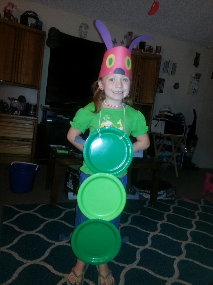 my daughter on storybook character day! The very hungry caterpillar costume