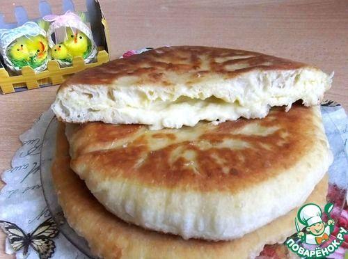 """""""Быстрый сырный пирог на сковороде"""": Источник: http://www.povarenok.ru/recipes/show/110302/"""