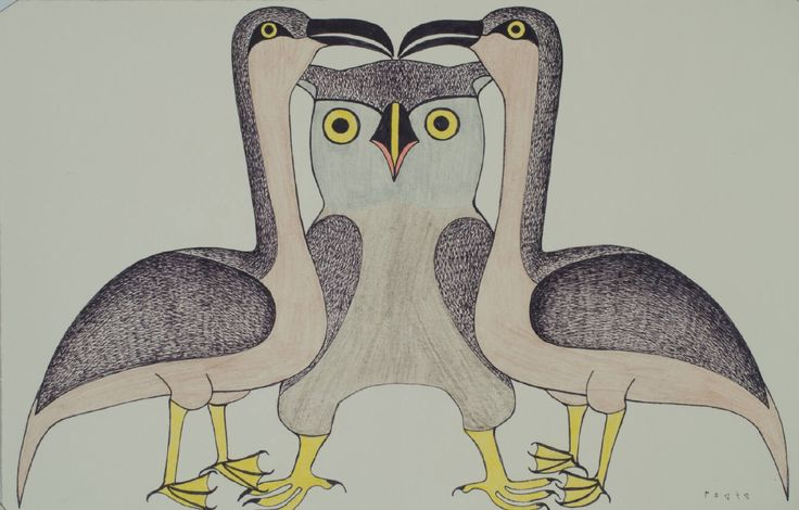 Kenojuak Ashevak original drawing 13 x 20