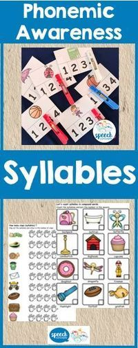 Syllable awareness is one component of phonological awareness. This pack contains a range of activities to develop this knowledge. The first activities target segmentation of compound words. Students can then move on to words with more syllables and syll