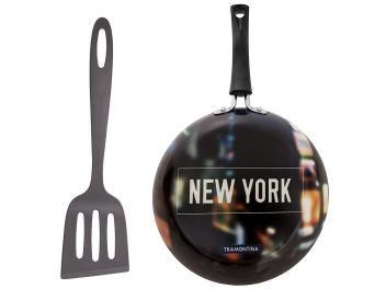 Frigideira Antiaderente Tramontina 24cm - 2 Peças Colorido Vivacor New York