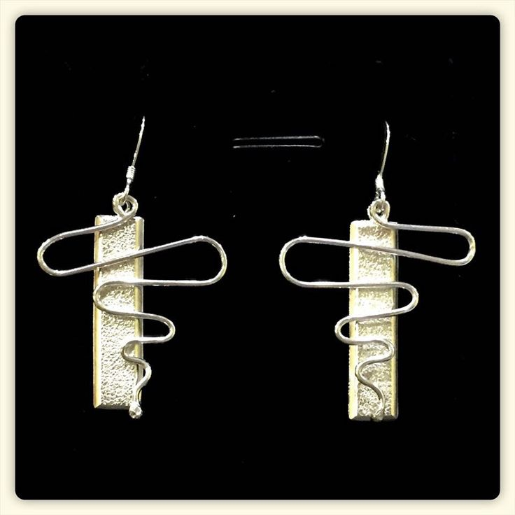 Wobbly Wobbly - Sterling Silver Earrings by TLHinspired on Etsy