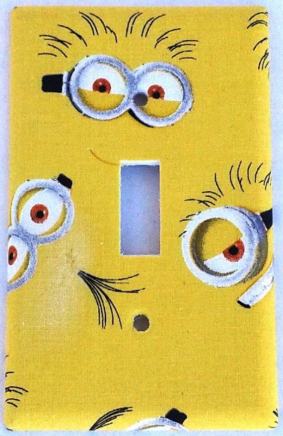 Despicable Me Minion Light Switch Cover Plate By Chriscraftiedecor