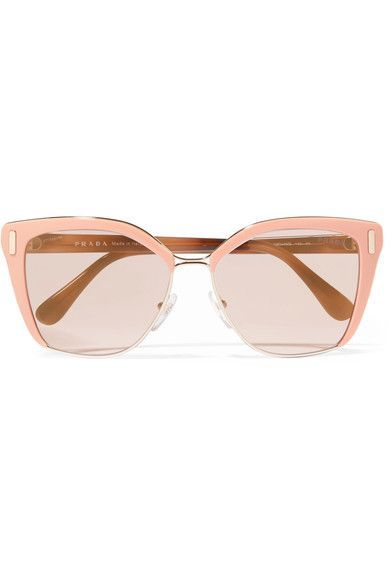 Prada - Square-frame Acetate And Gold-tone Sunglasses - Pink - One size