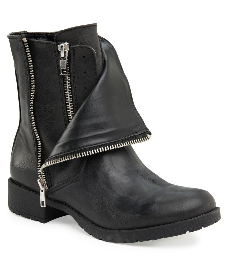 Mia Layered Moto Boot from Aeropostale