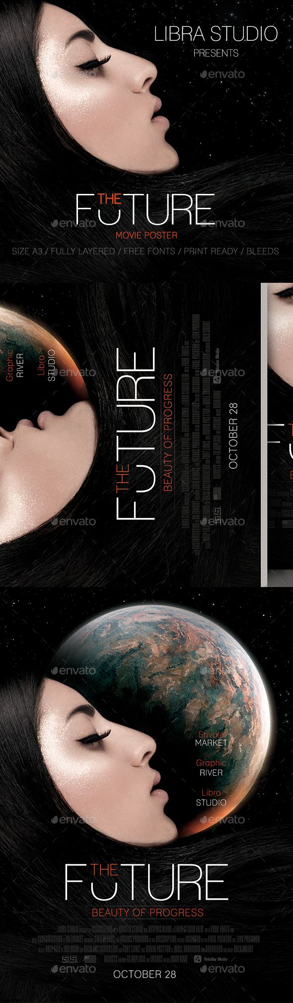 #The Future Movie Poster Template - #Future #Movie #Poster #Template #Miscellaneous #Event #Design. Download here: https://graphicriver.net/item/the-future-movie-poster/19477540?ref=yinkira