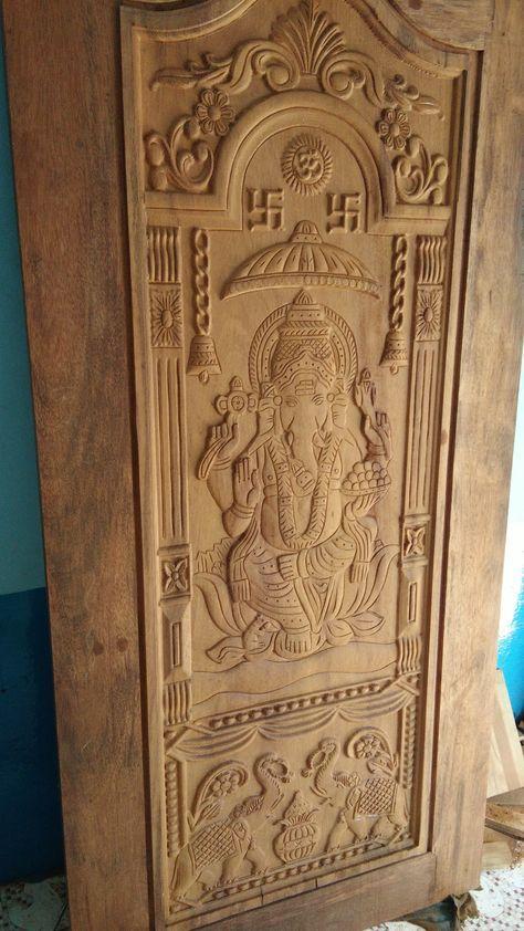 Bavas Wood Works Pooja Room Door Frame And Door Designs: Best Sagwan Main Door Design Ideas
