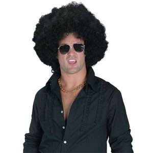 High Afro Wig With Pick