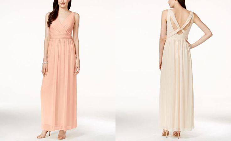 Adrianna By Adrianna Papell Chiffon Draped Sleeveless Gown - Shop all Wedding Dresses - Women - Macy's