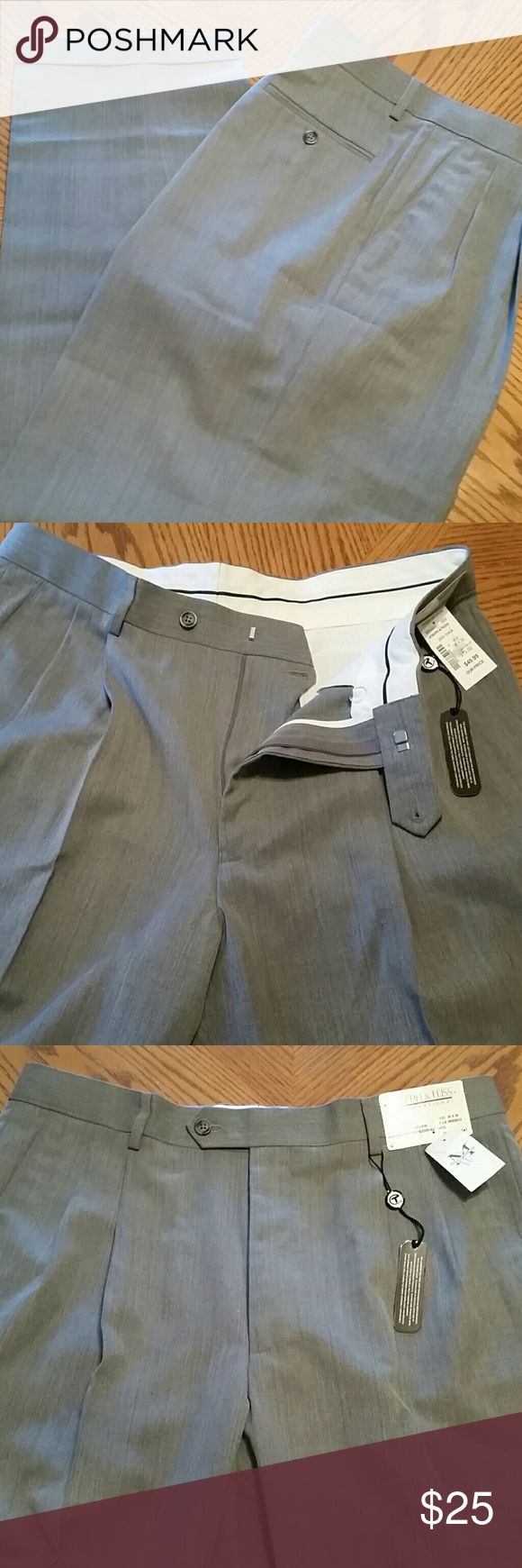 Joseph & Feiss Men's Slacks NWT!!! Gray men's slacks. 36x30. Hem is approx 9 inches across. 55% polyester 45% wool. Original price is $75. Paid $50 on sale. Joseph and Feiss Pants Dress