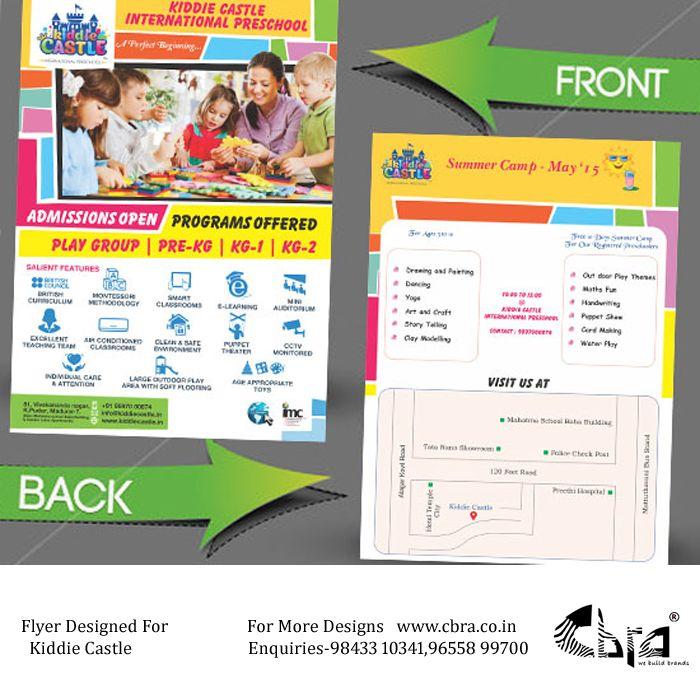 Flyer Designed For Kiddiecastle By Cbra  Flyer Designs