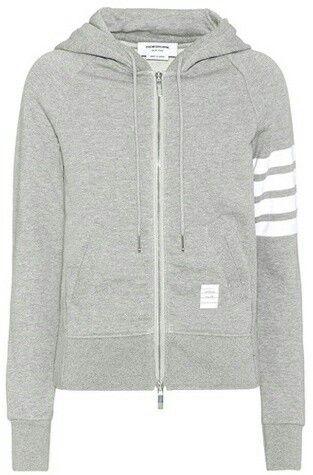 Grey Cotton Sweat Shirt by Thom Browne
