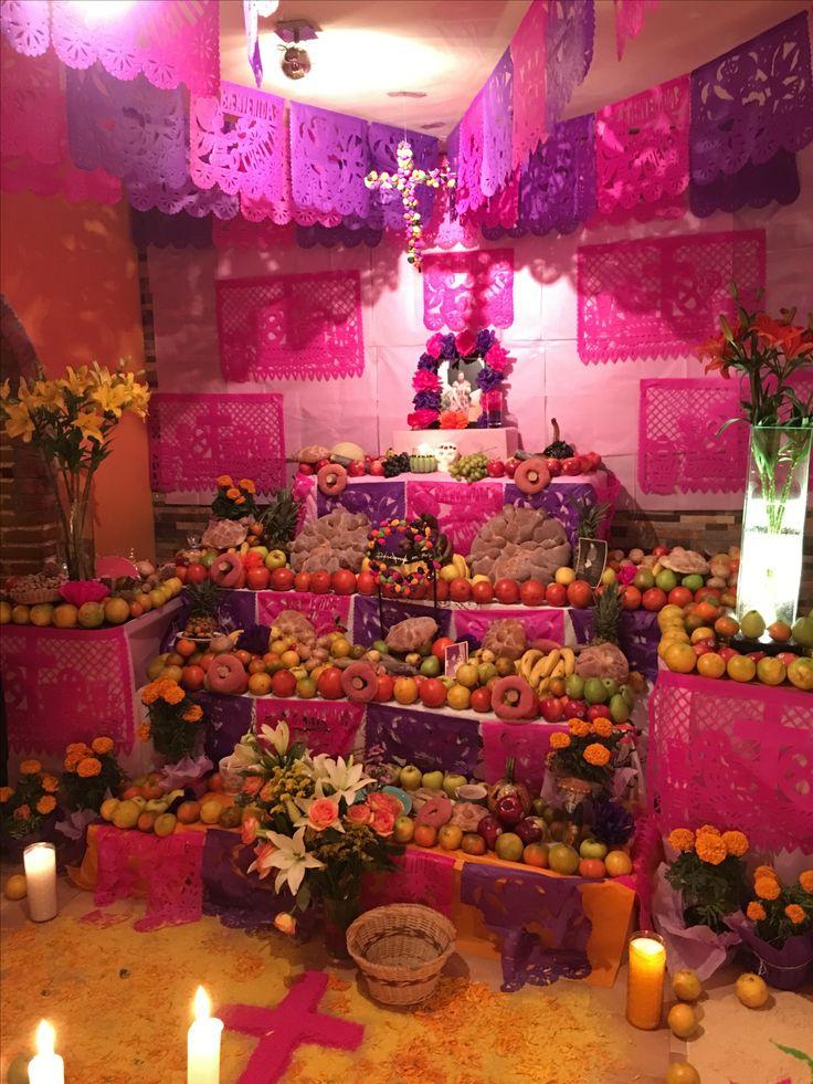 Ofrenda Día de muertos en San Pedro Atocpan, Milpa Alta, CDMX