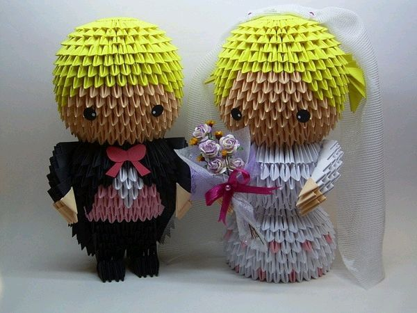 3d origami wedding couple origami pinterest