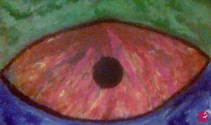 IL QUARTO OCCHIO  di Dany Blasi L'occhio del Mondo che attento ci guarda e giudica ...e il sole al tramonto perde la sua estrema e infuocata bellezza e lentamente muore nel lutto dell'innocenza dei suoi accesi e veri colori e  si capovolge anche la terra nuda nella sua simbolica e naturale essenza, con  sotto l'azzurro del  cielo e sopra il verde....