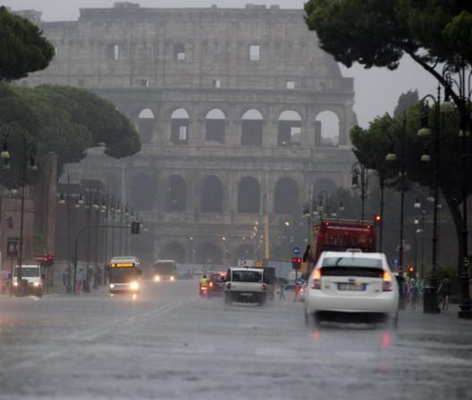 Rome, Italy . This rainy day is temporary here :)