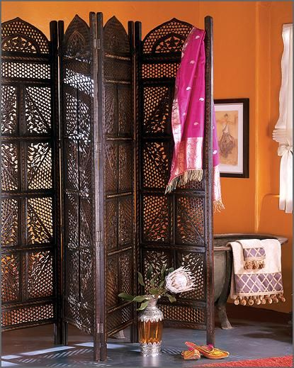 Boho room divider. Actually it's a Tease divider as you change clothes behind it whilst a man waits for you.