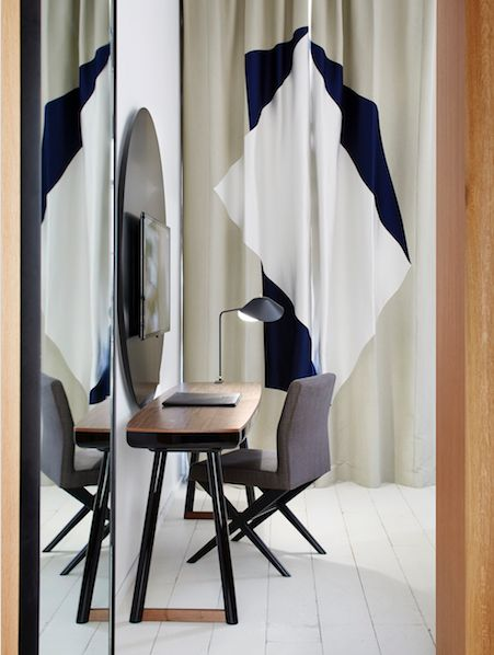 10 Rideaux de maitres : cosy & arty • hôtel Ministère by François Champsaur. (graphic, geometric, design)