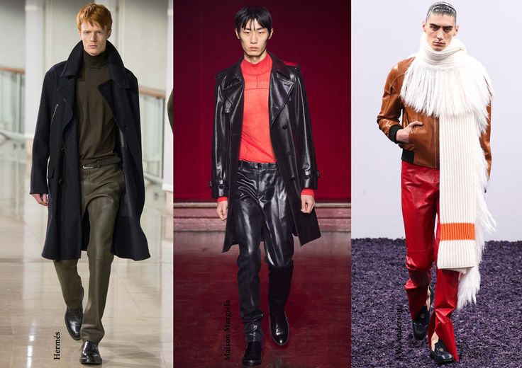FW15 menswear trends / Leather trousers / Férfi divat 2015 ősz tél / Bőrnadrág