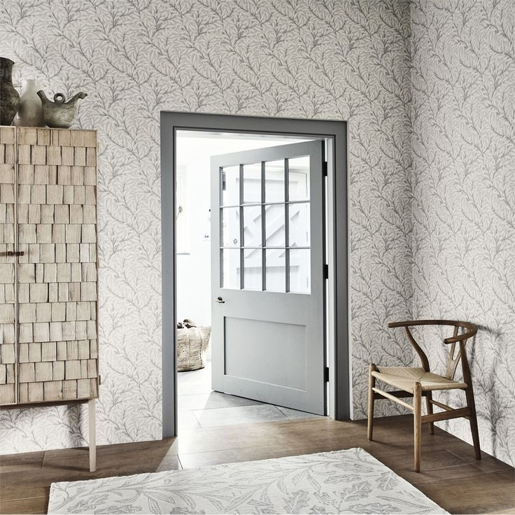 The Original Morris & Co - Arts and crafts, fabrics and wallpaper designs by William Morris & Company | Products | British/UK Fabrics and Wallpapers | Pure Willow Bough (DMPU216026) | Pure Wallpapers