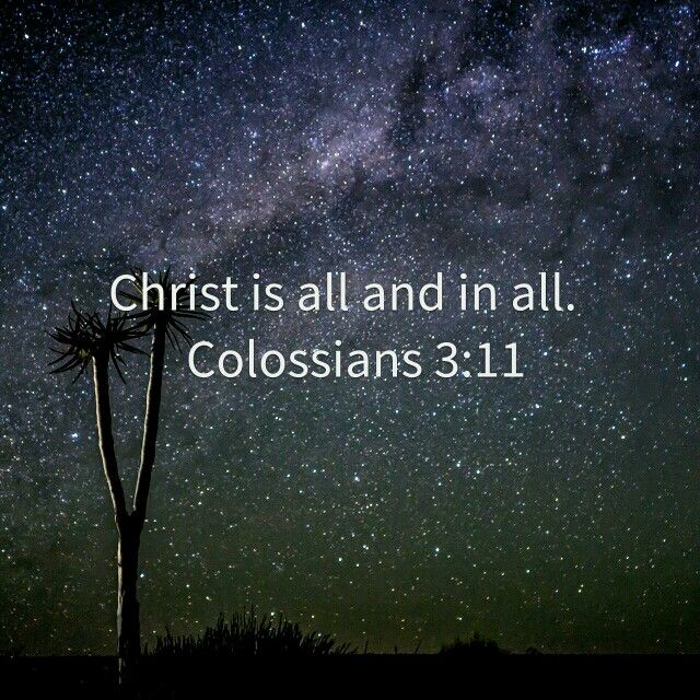 in Jesus there isn't different people. . We are all the same in Christ