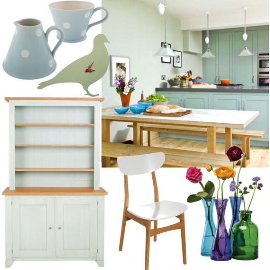 Mint green kitchen accessories