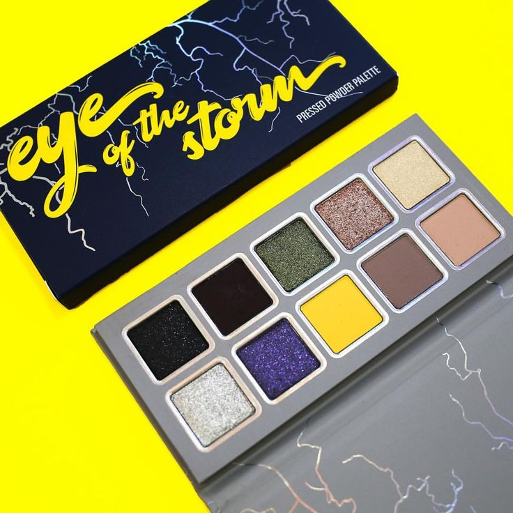 Eye of the Storm Palette A bold mix of soft mattes and glittery metallics. #WeatherCollection