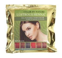 Lustrous Henna Soft Black is 100% Natural hair dye. Natural hair color; nontoxic herbal hair color. Totally PPD-FREE hair dye. No ammonia; No peroxide; No harsh chemicals; No synthetic dyes. excellent gray hair cover.