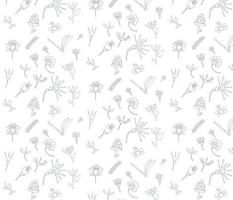 Floral frenzy fabric by t-w-i-n-k-l-e on Spoonflower - custom fabric