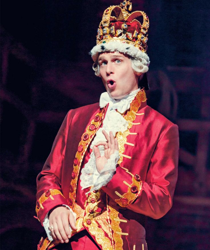 """ Jonathan Groff as King George III - Hamilton: The Revolution """