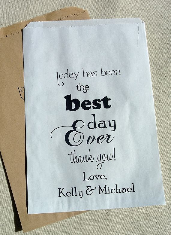 Wedding Favor Bags by abbey and izzie designs
