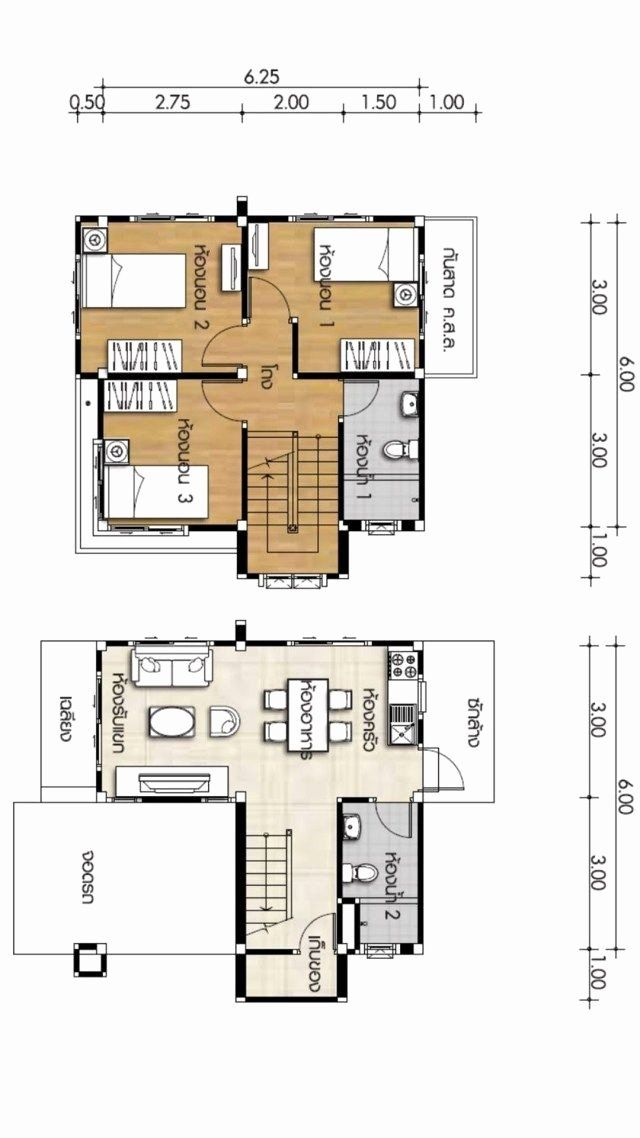 6 X 6 Bathroom Plans Best Of House Design Plans 6 6 With E Bedrooms Hip Roof Samphoas Tanj In 2020 Small House Blueprints Small House Design Plans Small House Design