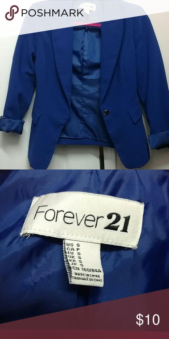 Forever 21 royal blue blazer small Forever 21 royal blue blazer small Forever 21 Jackets & Coats Blazers