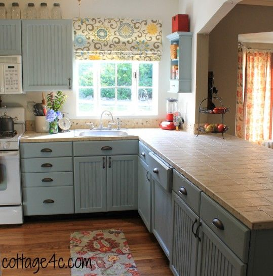 Cottage Blue Look But With Enough Gray That It Doesn Kitchen CabinetsKitchen