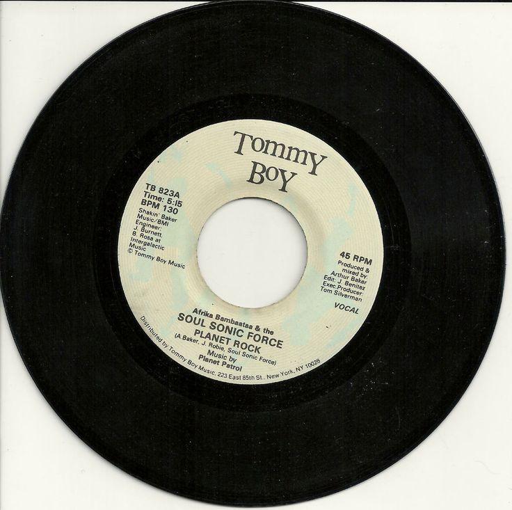 "SOUL SONIC FORCE Planet Rock 7"" 1982 Tommy Boy electro Bambaataa Kraftwerk #ElectroFunkElectronica"