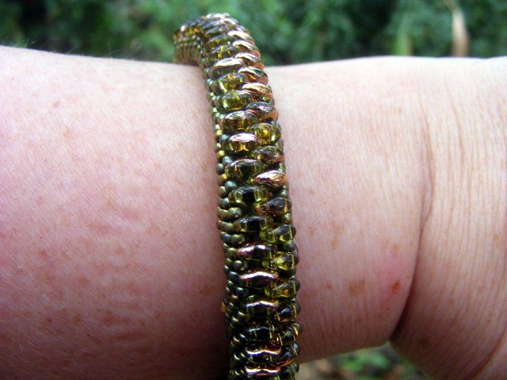 snake belly bracelet beading i done