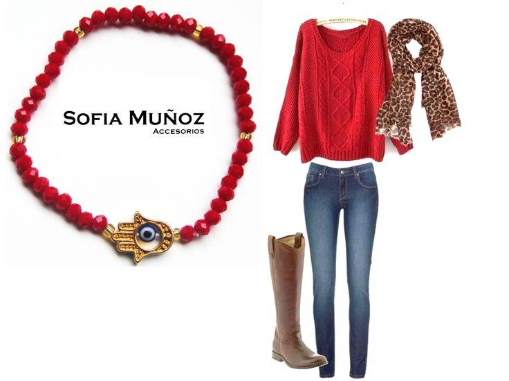 #Outfit El rojo es un color súper versátil que le imprime un toque de color increíble a nuestros looks...
