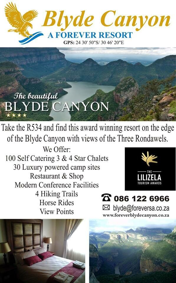 Blyde Canyon a Forever Resort - The first 100 confirmed bookings receive a 20% discount on the full accommodation rate. Book today 086 122 6966! T's & C's apply. Offer valid until Friday 20 November 2015! #ForeverBlyde @BlydeCanyon #destinationofchoice