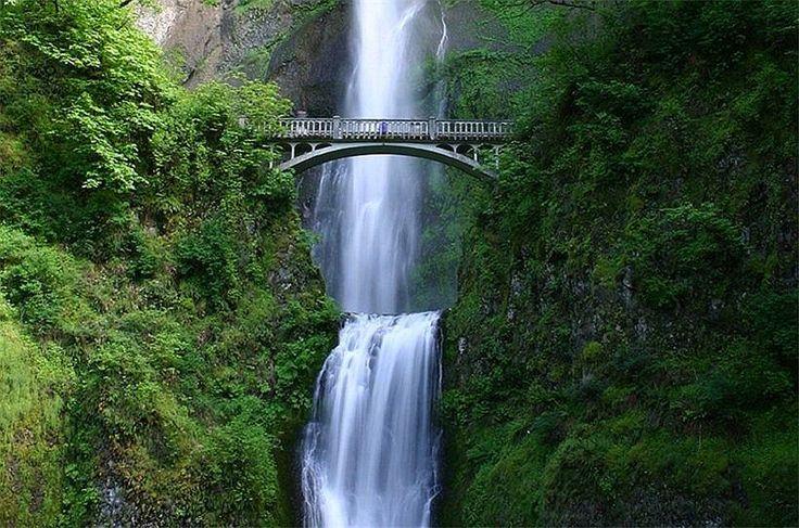 <<Multnomah Falls, Oregon # Водопад Малтнома-Фолс (Multnomah Falls) в штате Орегон, США>>