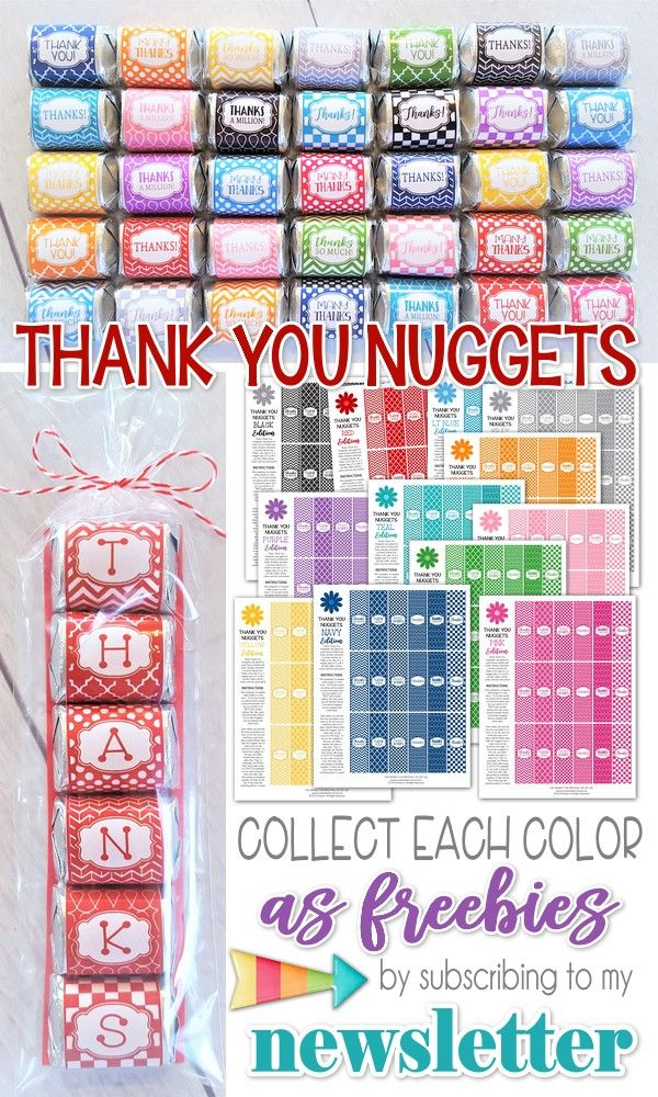 FREE Printable Series - THANK YOU NUGGET Printables! #mycomputerismycanvas