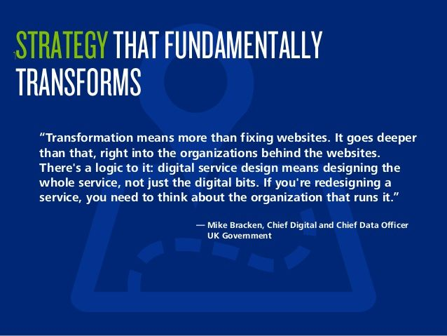 "‫‏‬STRATEGYTHATFUNDAMENTALLY TRANSFORMS ""Transformation means more than fixing websites. It goes deeper than that, right i..."