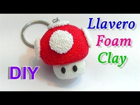"""Video Tutorial: llavero de Foam Clay seta Super Mario Bros """"Toad"""""""
