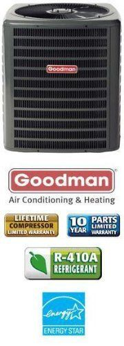 3 Ton 14 Seer Goodman Heat Pump - SSZ140361 by Goodman. $1579.00. Single Stage Heat Pump (R-410A) Heat Pump for split systems provides efficient heating and cooling. Pair with matching air handler for best results. Contact us for assistance in finding correct air handler if needed.
