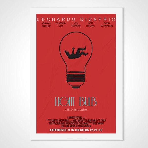 Light Bulb Movie Poster by Krissy Mayhew, via Behance