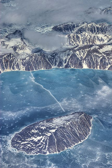 Paugnang Island, with Padloping Island to the North, Nunavut, Canada   by mathewbest, via Flickr