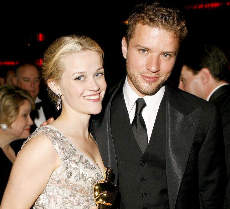 He Was Married to Her? Looking Back at Major Movie Stars' First Spouses -- Reese Witherspoon and Ryan Phillippe -  This power couple met at Witherspoon's 21st birthday party in 1997 and got married on a plantation in 1999. They welcomed two children (Ava Elizabeth Phillippe in 1999 and Deacon Reese Phillippe in 2003) before separating in 2006, finalizing divorce in 2007. After the relationship ended, Witherspoon married talent agent Jim Toth.