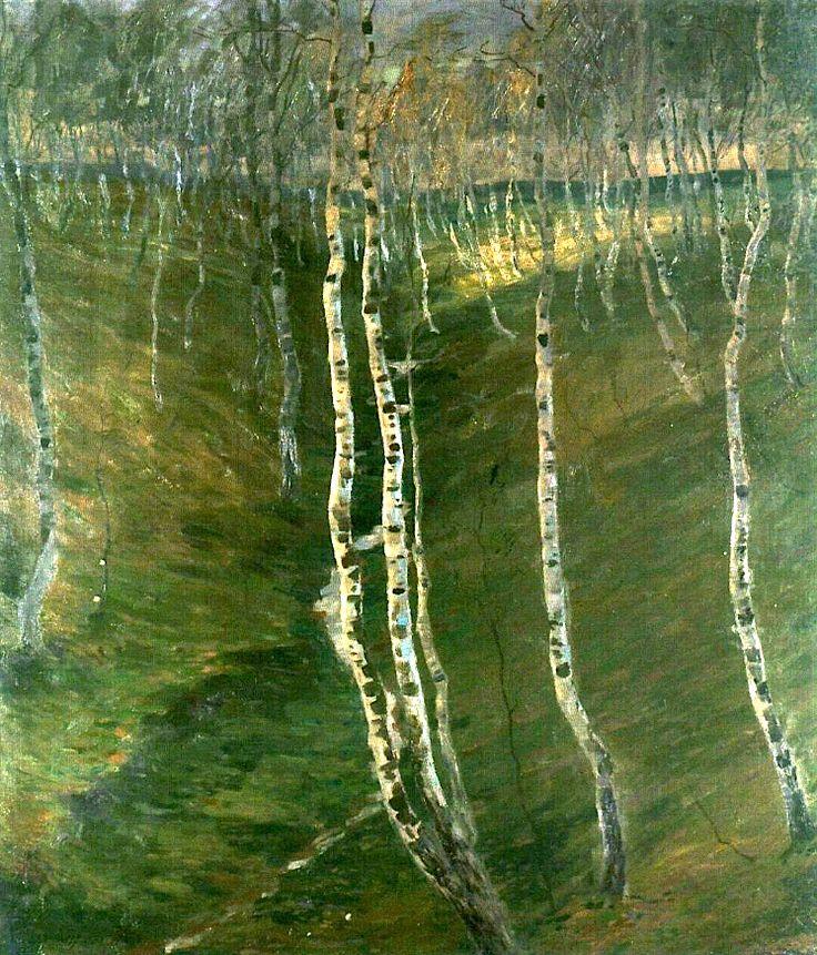 Birch Trees Otakar Nejedlý - 1904