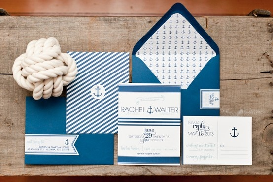 Nautical Themed Wedding Invitation Set by Dandelion Willows Invitations + Stationery    Photo Credit: Royce Sihlis Photography