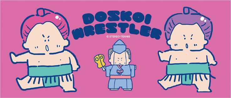 【ステレオテニス】DOSKOI WRESTLER フェイスタオル / ヴィレヴァン通販